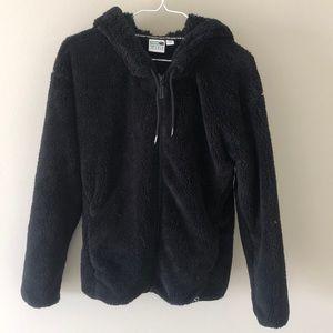 Black fleece zip hoodie!